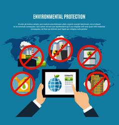 Environmental protection concept vector