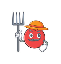 Farmer bowling ball character cartoon vector