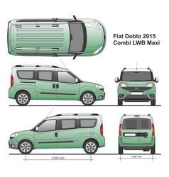 Fiat doblo combi maxi lwb 2015 vector