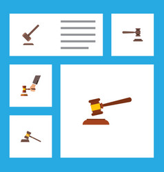 flat icon court set of legal court tribunal and vector image vector image