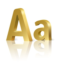 Golden letter A vector image