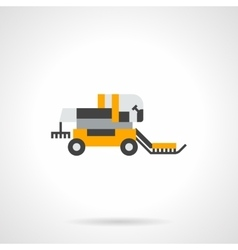 Harvester combine flat color icon vector image