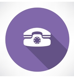 landline phone icon vector image vector image