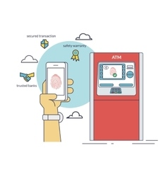 Mobile access to atm via smartphone using vector