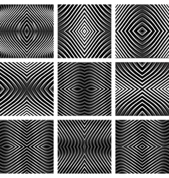 Patterns set in op art design vector