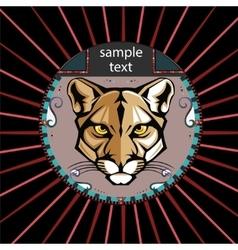 Portrait of a lioness vector image