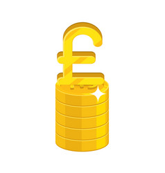 pound growing stack vector image vector image