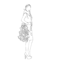 Project for a high fashion dress vector image vector image