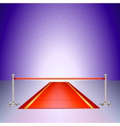 Red carpet with a scarlet ribbon vector image