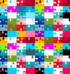 Seamless Jigsaw - Puzzle vector image vector image