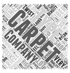 Shopping For Carpet Word Cloud Concept vector image vector image