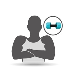 Silhouette amrs crossed and dumbbell vector