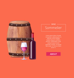 Sommelier services advert icon vector