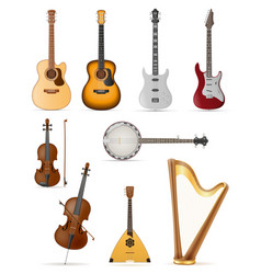 Stringed musical instruments stock vector