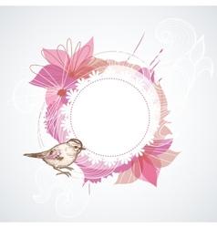 Summer floral frame vector image