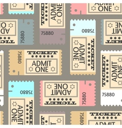 Tickets seamless pattern abstract texture art vector image vector image