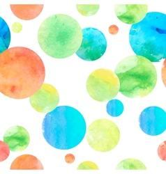 Watercolor circle seamless background vector