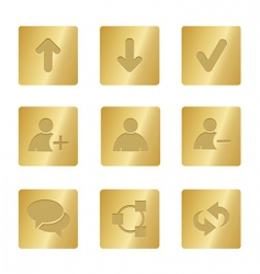 01 bronze square chat icons vector image vector image