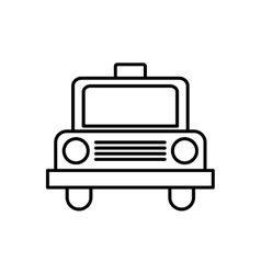 Taxi transportation vehicle travel icon vector