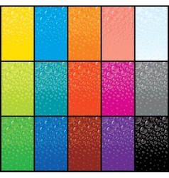 Collection of Bubble Patterns Images vector image