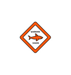 Caution sign shark vector
