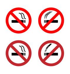 no smoking sign icons set vector image