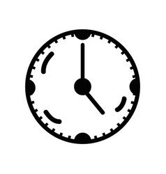 Figure clock to know the time of day vector