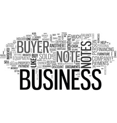 Are business buyer notes profitable text word vector