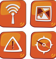 Media and technology icons vector