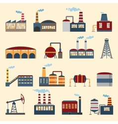 Industrial building icons vector
