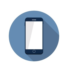 Modern Flat Mobile Icon vector image