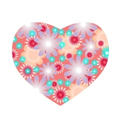 Floral heart with flowers vector