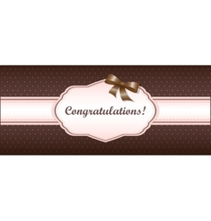 Shabby chic girly congratulations card swatch vector