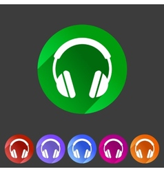 Headphone dj icon sign symbol logo label vector