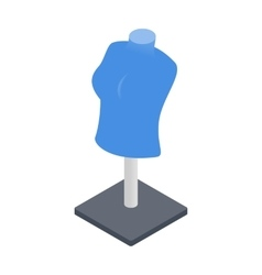 Mannequin isometric 3d icon vector