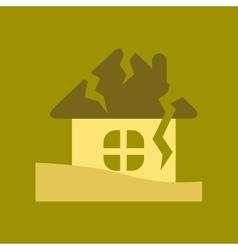 flat icon on stylish background house crash vector image
