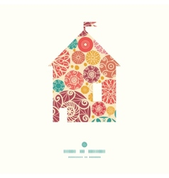 abstract decorative circles house silhouette vector image