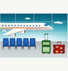 Airport terminal arrival flight vector