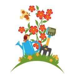 Blooming Garden emblem vector image vector image