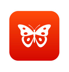 Butterfly pierid icon digital red vector