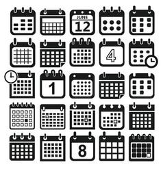 calendar design icons vector image vector image