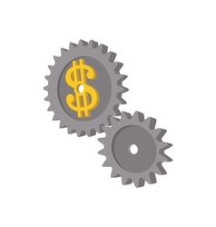 Clockwork with dollar sign icon cartoon style vector