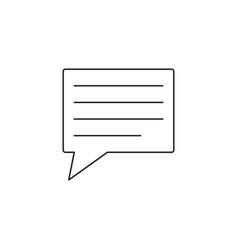 comment line icon speech bubbles graphics vector image vector image
