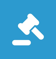 Court law icon white on the blue background vector