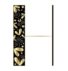 Decorative letter shape Font type H vector image vector image