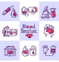 Donor design concept vector