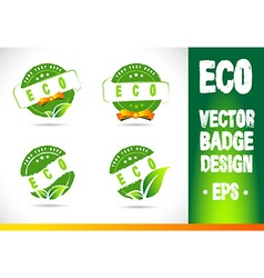 Eco badge logo vector