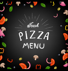 Fresh pizza menu vector