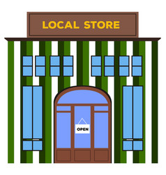 Front view of a local store vector