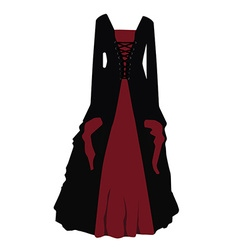 Gothic dress vector